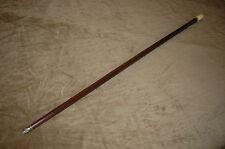 Scrimshaw handle, silver collar Walking Stick, Cane