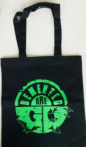 DEMENTED ARE GO Tote Bag red punk rockabilly psychobilly