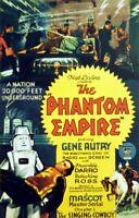 Super 8 Sound-Gene Autry-1935 Phantom Empire-2 Elmo 800' Reels-80 Minutes