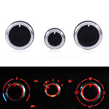 3PCS Car Air Condition A/C Switch Buttons Control Knobs Cover For VW Golf MK4
