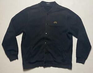 NIKE SB Varsity Official Fleece Black/Gold Snap Button Up Men's Jacket Size XL