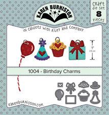 Karen Burniston 1004 - BIRTHDAY CHARMS DIE SET 8 pieces Wafer Thin