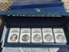 2011 25th Anniversary Silver Eagle Set * All graded NGC Early Releases MS70 PF70