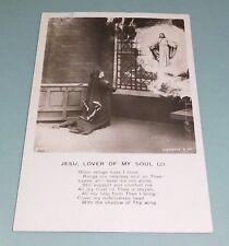 """Postcard Vintage """"Jesu Lover of My Soul"""" Jesus - Photo Stock"""
