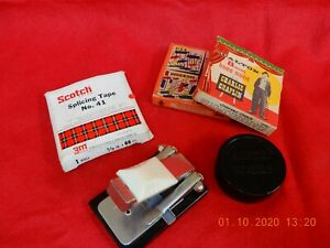 """8mm film, bits and pieces """"x films & splicer"""