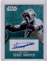 DICKEY BEER as SCOUT TROOPER 2016 Topps Star Wars Evolution Autograph Auto Card