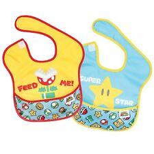 Bumkins Nintendo Super Mario Feed Me/Star SuperBib 2pk (6-24 Months) Baby Bib