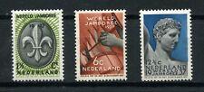 Netherlands 1936 Scott 206-208  World Jamboree 1937 - Scouting MNH