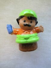 Fisher Price Little People ZOO KEEPER HISPANIC MAN WORKER ANIMAL HELPER FPLP