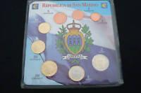 COLLEZIONE COMPLETA EURO SAN MARINO 8 MONETE FDC GUARDA