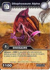 Carte DINOSAUR KING Attaque Alpha DILOPHOSAURE ALPHA DKAA 042/100