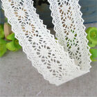 1/5/10 Yards Lace Trim Bridal Wedding Sewing Cotton Crochet Ribbon Craft DIY