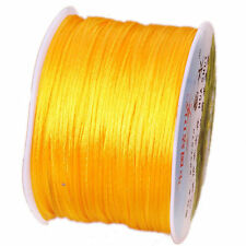 1 mm Nylon Macrame Chinese Knoting Rattail Satin Cord Shamballa Thread String