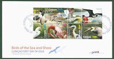 Curacao 2012 - Vögel Pelikan Flamingo Fregattvogel Baßtölpel Reiher Nr 84-91 FDC