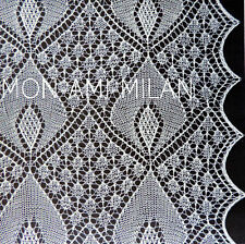Vintage Lace Knitting Pattern LACY 'CANDLELIGHT' BEDSPREAD Throw Afghan Bedcover
