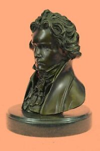 Historical Composer Beethoven Famous Bronze Sculpture Marble Statue Figure DEAL