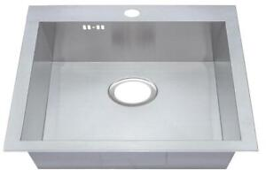 560x500mm 1 Bowl Handmade Inset Sink with Tap Hole (DS025-1)