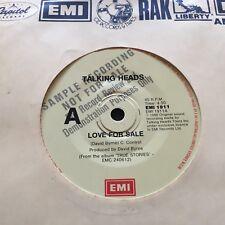 """TALKING HEADS - - LOVE FOR SALE - - 1986 Australian EMI Promo 7"""""""