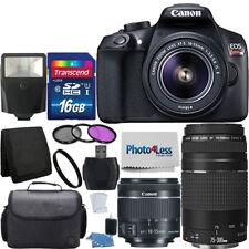 Canon Rebel T6 Digital Slr Camera + 18-55mm Is Stm + 75-300mm Lens + Top Kit