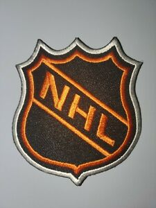 NHL HOCKEY ORANGE & BLACK EMBROIDERED IRON ON PATCHES 3 X 3