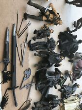 25+Toybiz LORD OF THE RINGS Figures Huge Lot & weapons Horses ~Old Storage Dirty