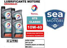 4 LITRI OLIO MOTORE TOTAL GTS CLASSIC 10W40 ACEA A3/B4 BASE SINTETICA