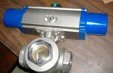 "Howell 2"" 3-Way Stainless Steel Ball Valve w/SR Pneumatic Actuator"
