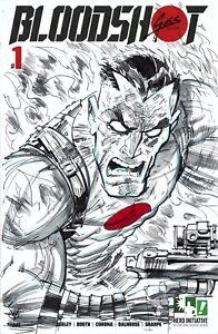 HERO INITIATIVE BLOODSHOT 50 PROJECT Original cover: CHRISTIAN GOSSETT CGC 9.2
