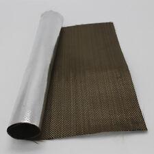 "Aluminized Titanium Heat Shield Aluminized Basalt Fiber Cloth 24"" X 36"" NEW"