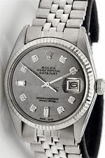 $12,000 METEORITE DIAMOND DIAL Rolex Mens Datejust SS 18k Gold Watch BOX & WTY