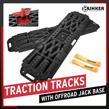 Bunker Indust Recovery Tracks With Off Road Base Sand Traction Boards Black