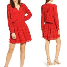 Rails M Medium  Jasmine Dress in Scarlett Red Mini Polka Dot NWT Msrp $178