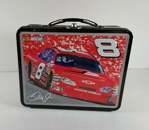 NASCAR DALE EARNHARDT JR . #8 METAL SMALL LUNCH BOX - EXCELLENT CONDITION