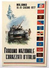 Cartolina I° Raduno Nazionale Corazzati D'Italia Milano 1977