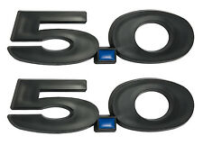 2011-2014 Ford Mustang GT 5.0 Black Fender Emblems w/ Blue Dot - Pair LH RH