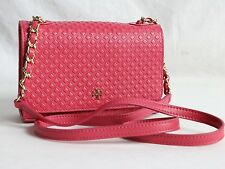Tory Burch Quilted Leather Crossbody Small Pink Wristlet