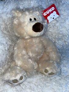 """GUND Philbin Teddy Bear Stuffed Animal 11"""" NWT So Soft Fur Plush Toy Doll Figure"""