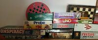 Huge Lot 17 mixed Modern & Vintage Board Games - Instant Collection Summer Fun