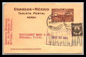GP GOLDPATH: MEXICO POSTAL CARD 1945 AIR MAIL _CV712_P15