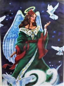 Angel and Doves Standard House Flag by Evergreen, Colorfast , #3742