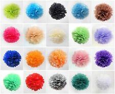 "5PCS 8""/10""/14""  Handmate Tissue Paper Pom poms Wedding Party Shower Decor"