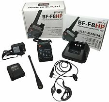 NEW BaoFeng BF-F8HP 8W TRI-POWER Two Way Ham Radio Walkie Talkie & Accessories
