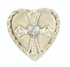 14K Yellow Gold KLJCI R Klein Slide Bracelet Charm Cross Heart Diamond B1476