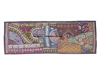 152cm Enorme Fuertemente con Cuentas Lentejuelas Decor Kundan Vintage Pared Sari