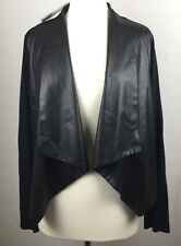 G by Giuliana Black Reptile Pattern & Jersey Contrast Crop Topper Jacket  1X NWT