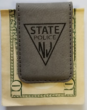 NJSP New Jersey State Police Gray Leather Money Clip