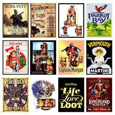 alcohol Retro Metal Signs/Plaques Man Cave, Cool Novelty Gift, Bar/ Pub 26