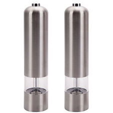 2 Electric Spice Salt Pepper Mill Grinder Stainless Steel Muller Kitchen Tools