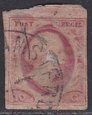 1852 Koning Willem III 10 cent rood ongetand NVPH 2 (albumvuller)