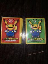 Sleeve poncho Pikachu Luigi Mario protege carte Pokémon deck shield card box